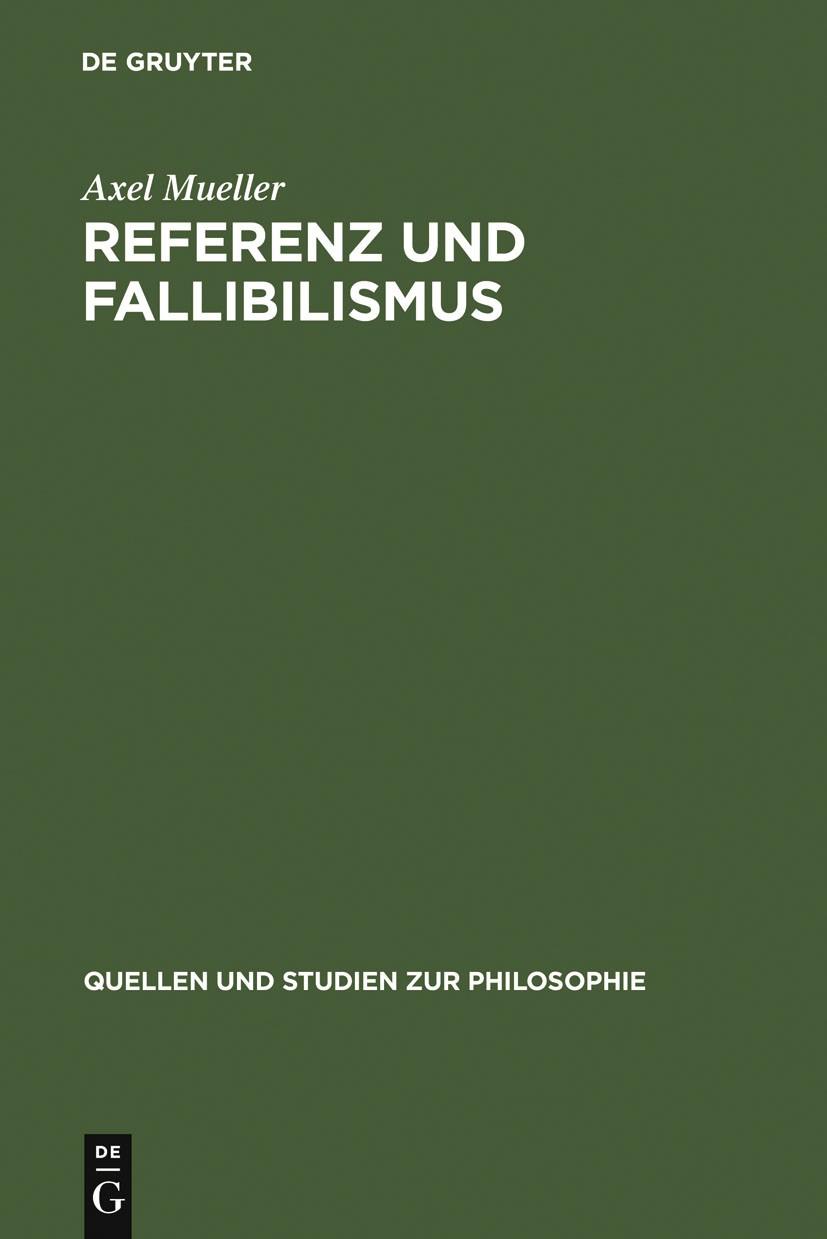 Referenz und Fallibilismus | Mueller, 2001 | Buch (Cover)