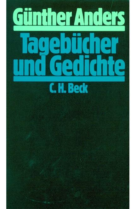 Cover: Günther Anders, Tagebücher und Gedichte