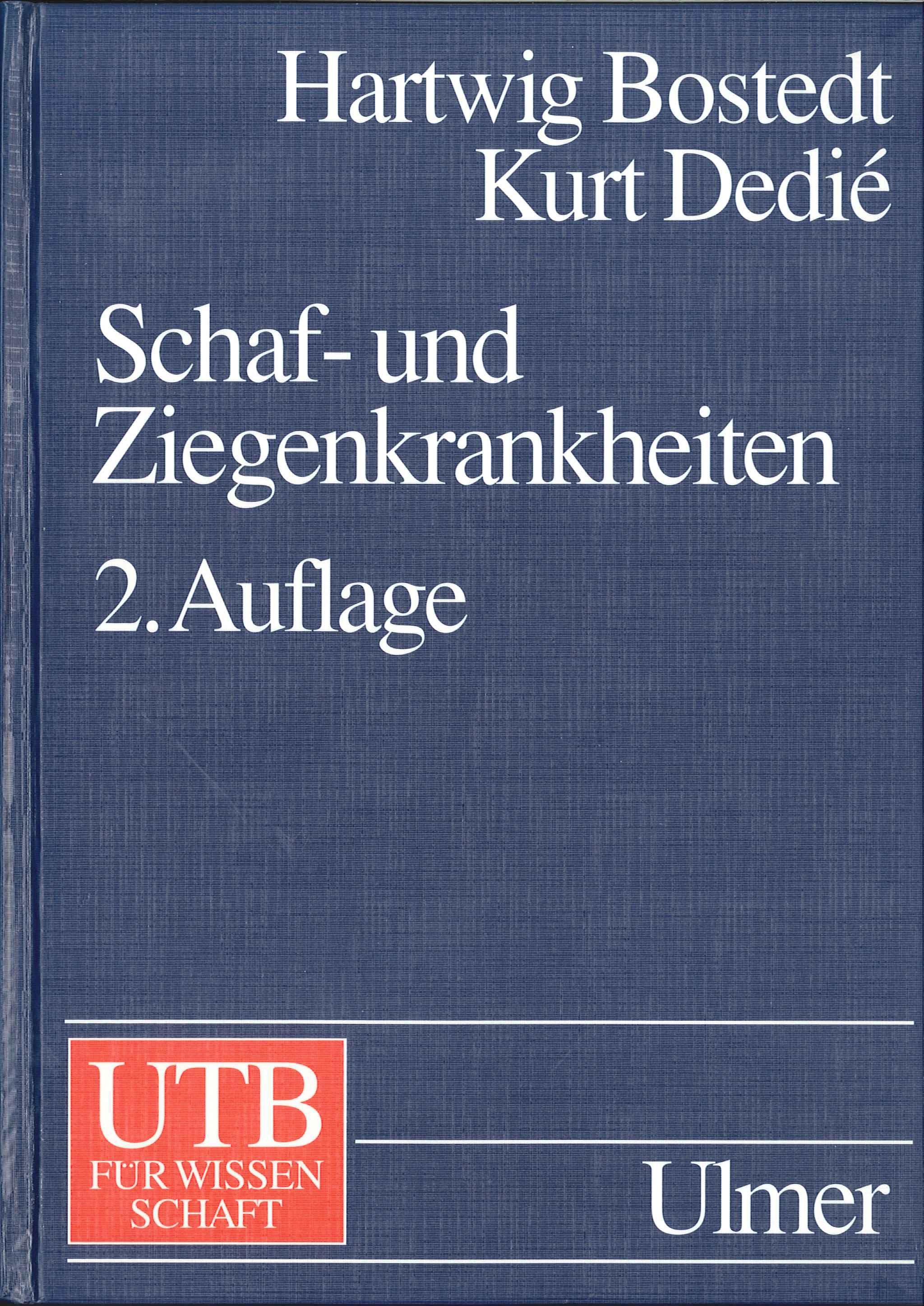 Schaf- und Ziegenkrankheiten | Bostedt / Dedié | 2. neu bearb. u. erw. Aufl. 1996, 1996 | Buch (Cover)