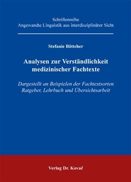Abbildung von Böttcher   Analysen zur Verständlichkeit medizinischer Fachtexte   2013   Dargestellt an Beispielen der ...   46