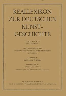 Abbildung von Reallexikon Dt. Kunstgeschichte 96. Lieferung: Firnis | 1. Auflage | 1988 | beck-shop.de