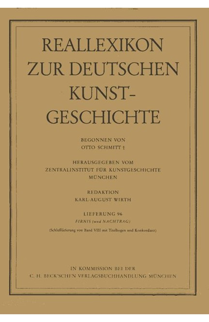 Cover: , Reallexikon Dt. Kunstgeschichte  96. Lieferung: Firnis