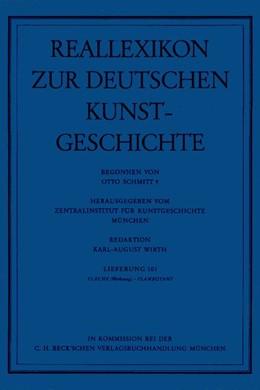 Abbildung von Reallexikon Dt. Kunstgeschichte 101. Lieferung: Fläche (Werkzeug) - Flamboyant   1992