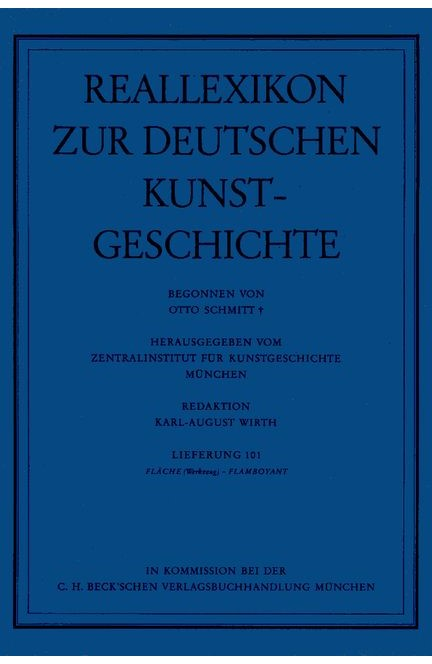 Cover: , Reallexikon Dt. Kunstgeschichte  101. Lieferung: Fläche (Werkzeug) - Flamboyant
