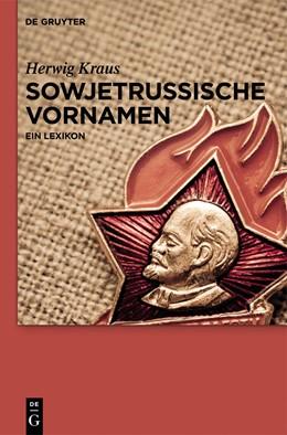 Abbildung von Kraus   Sowjetrussische Vornamen   2013   Ein Lexikon