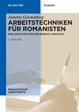 Abbildung von Gerstenberg | Arbeitstechniken für Romanisten | 2nd, revised edition | 2013 | Eine Anleitung für den Bereich... | 53
