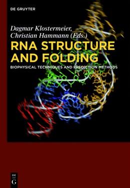 Abbildung von Klostermeier / Hammann | RNA Structure and Folding | 1. Auflage | 2013 | Biophysical Techniques and Pre...