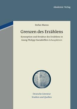 Abbildung von Manns | Grenzen des Erzählens | 2013 | Konzeption und Struktur des Er... | 14