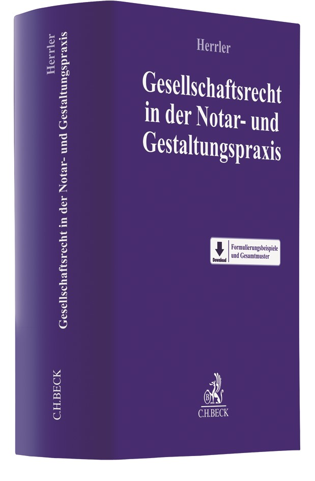 Gesellschaftsrecht in der Notar- und Gestaltungspraxis | Herrler, 2017 | Buch (Cover)