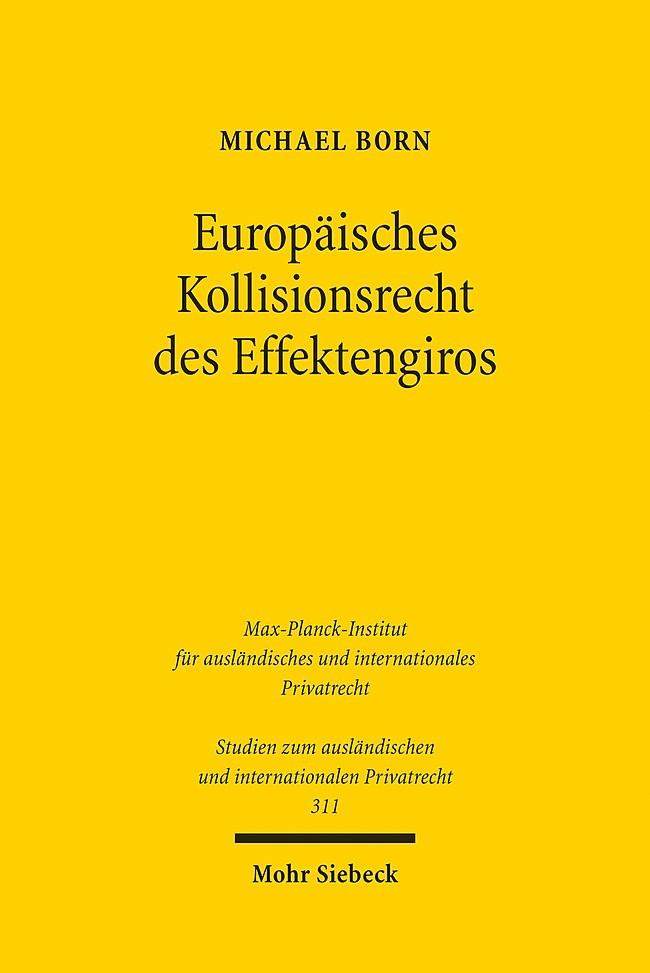 Europäisches Kollisionsrecht des Effektengiros   Born, 2014   Buch (Cover)