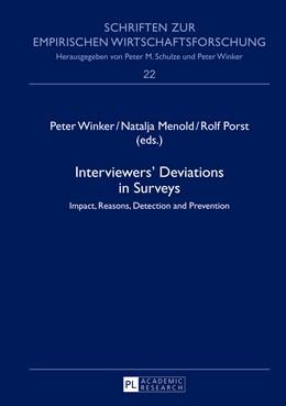 Abbildung von Winker / Porst / Menold | Interviewers' Deviations in Surveys | 2013 | Impact, Reasons, Detection and... | 22