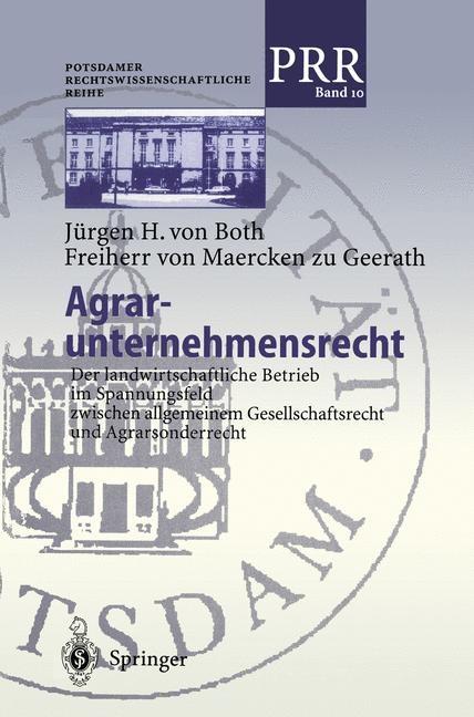 Agrar-unternehmensrecht | Both Freiherr von Maercken zu Geerath, 2000 | Buch (Cover)