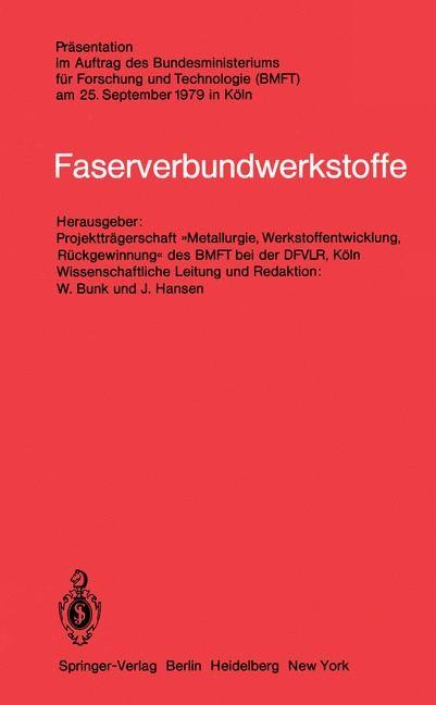 Faserverbundwerkstoffe, 1980 | Buch (Cover)