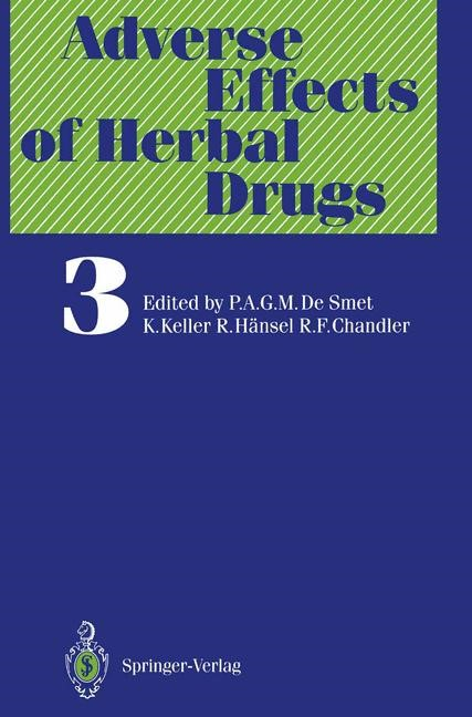 Adverse Effects of Herbal Drugs, 1996 | Buch (Cover)