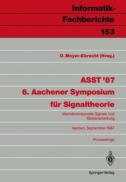 Abbildung von Meyer-Ebrecht | ASST '87 6. Aachener Symposium für Signaltheorie | 1987 | Mehrdimensionale Signale und B... | 153