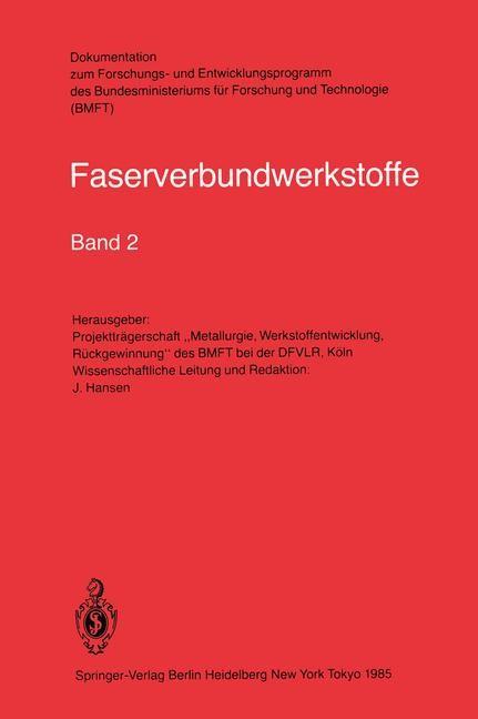 Faserverbundwerkstoffe, 1985 | Buch (Cover)