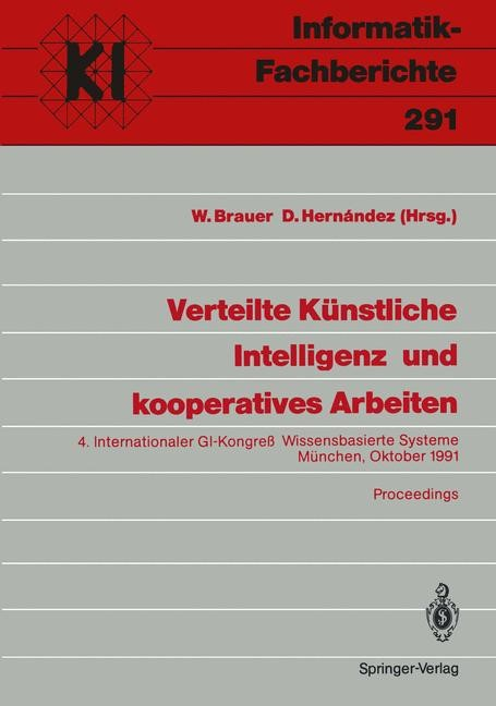 Verteilte Künstliche Intelligenz und kooperatives Arbeiten | Brauer / Hernandez, 1991 | Buch (Cover)