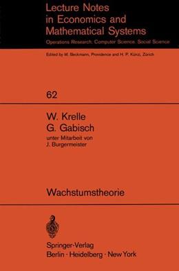 Abbildung von Krelle / Gabisch | Wachstumstheorie | 1972 | 62