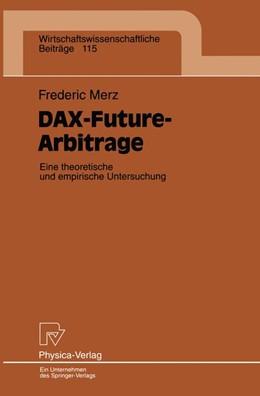 Abbildung von Merz | DAX-Future-Arbitrage | 1995 | Eine theroetische und empirisc... | 115