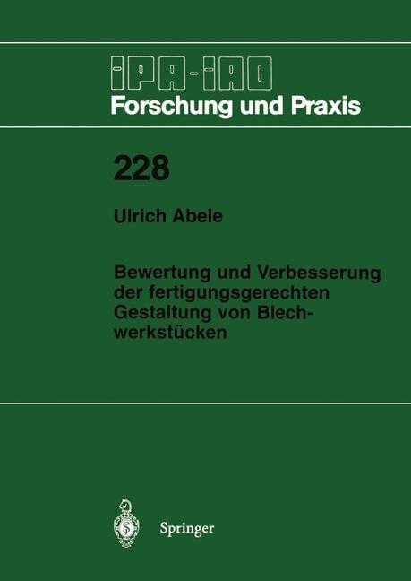 Abbildung von Abele | Bewertung und Verbesserung der fertigungsgerechten Gestaltung von Blechwerkstücken | 1996