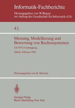 Abbildung von Mertens | Messung, Modellierung und Bewertung von Rechensystemen | 1981 | GI-NTG Fachtagung Jülich, 23.–... | 41