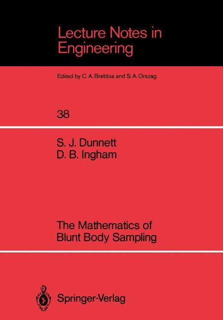 The Mathematics of Blunt Body Sampling | Dunnett / Ingham, 1988 | Buch (Cover)