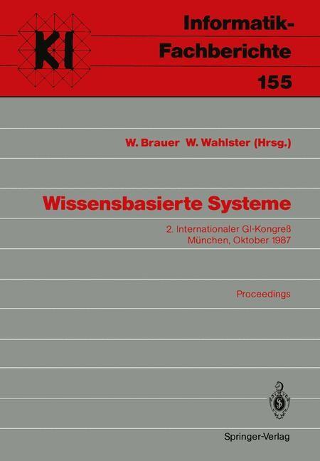 Wissensbasierte Systeme | Brauer / Wahlster, 1987 | Buch (Cover)