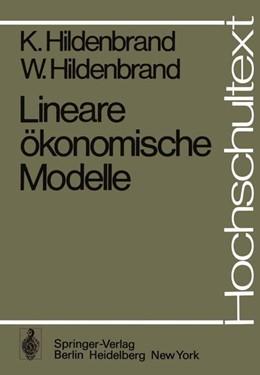 Abbildung von Hildenbrand | Lineare ökonomische Modelle | 1. Auflage | 1975 | beck-shop.de