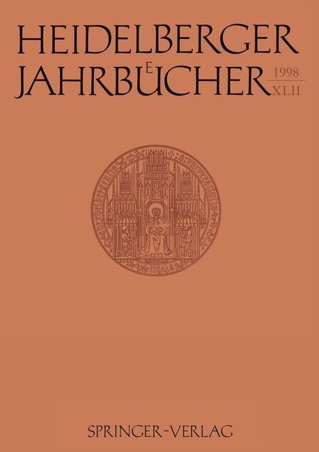 Heidelberger Jahrbücher, 1998 | Buch (Cover)