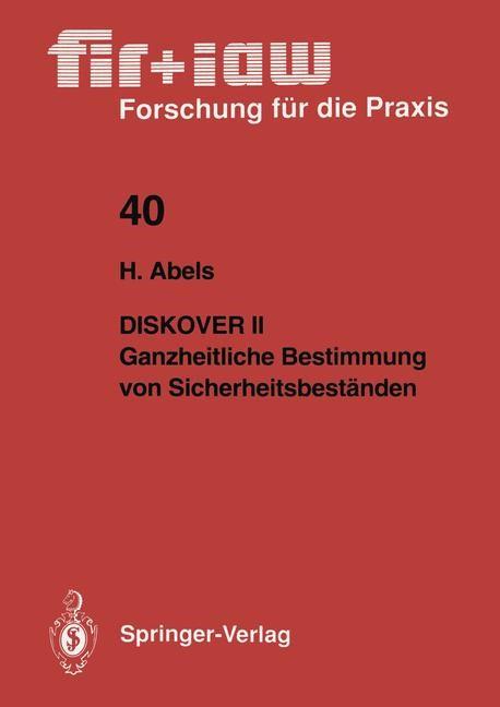 Diskover II Ganzheitliche Bestimmung von Sicherheitsbeständen | Abels, 1991 | Buch (Cover)