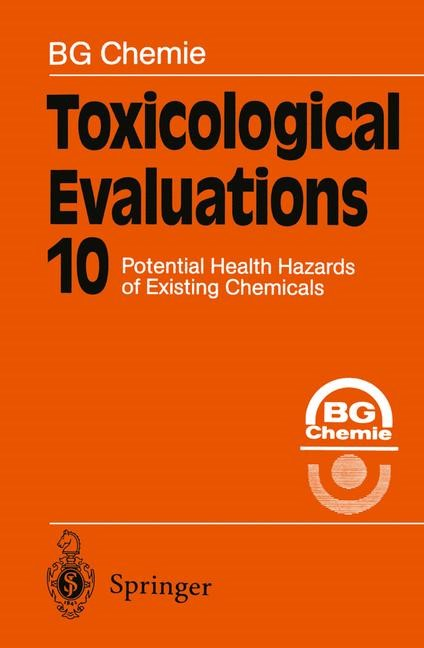 Toxicological Evaluations, 2011   Buch (Cover)