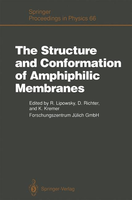 Abbildung von Lipowsky / Richter / Kremer | The Structure and Conformation of Amphiphilic Membranes | 2011