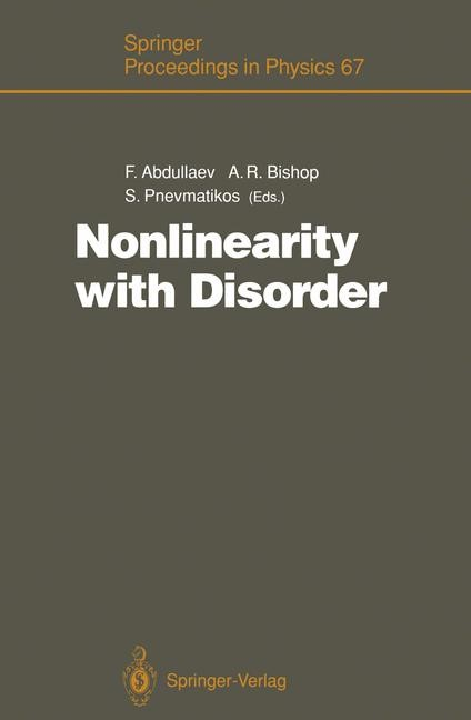 Nonlinearity with Disorder | Abdullaev / Bishop / Pnevmatikos, 2011 | Buch (Cover)