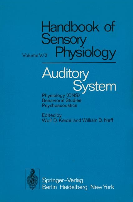 Auditory System   Abeles / Bredberg / Butler, 2011   Buch (Cover)