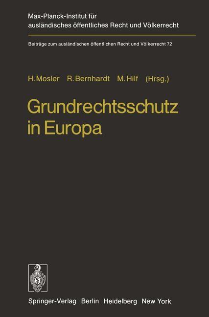 Grundrechtsschutz in Europa   Mosler / Bernard / Hilf, 2012   Buch (Cover)