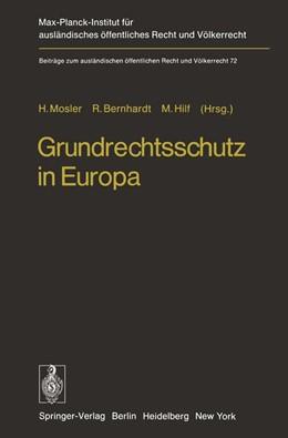 Abbildung von Mosler / Bernard / Hilf | Grundrechtsschutz in Europa | 2012 | Europäische Menschenrechts-Kon... | 72
