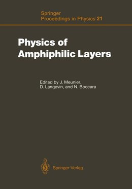 Abbildung von Meunier / Langevin / Boccara | Physics of Amphiphilic Layers | 2012 | Proceedings of the Workshop, L... | 21