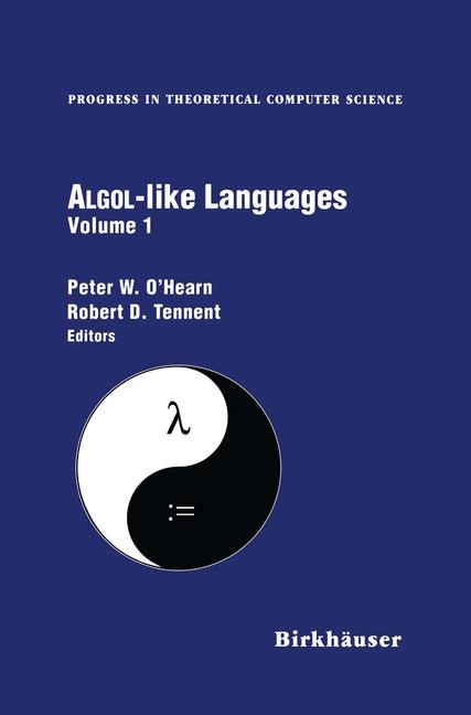 Abbildung von O'Hearn / Tennent | Algol-like Languages | 2011