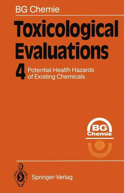 Toxicological Evaluations, 2011 | Buch (Cover)