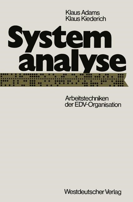 Systemanalyse | Adams, 1973 | Buch (Cover)