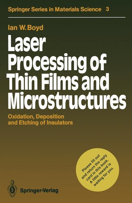 Laser Processing of Thin Films and Microstructures | Boyd, 2011 | Buch (Cover)