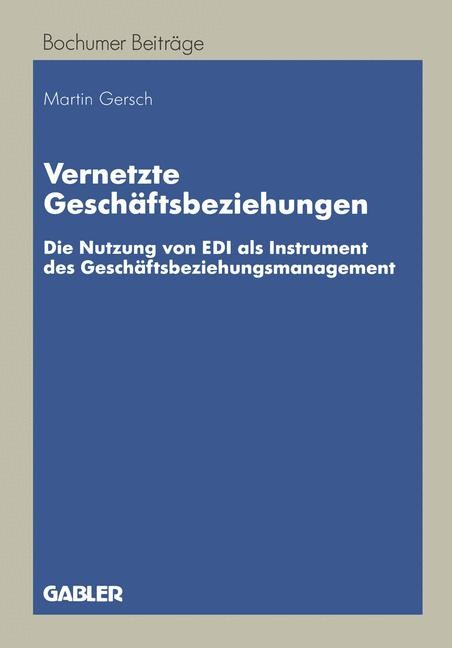 Abbildung von Gersch | Vernetzte Geschäftsbeziehungen | 1998 | 1998