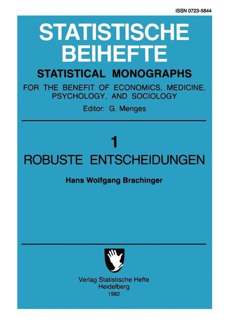 Robuste Entscheidungen | Brachinger, 2011 | Buch (Cover)