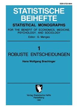 Abbildung von Brachinger | Robuste Entscheidungen | 2011 | Optimale Auswahl im Rahmen wei... | 1