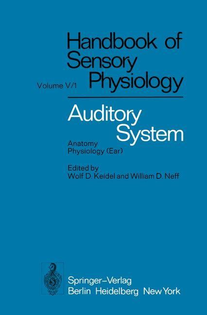 Abbildung von Ades / Axelsson / Baird | Auditory System | 2011