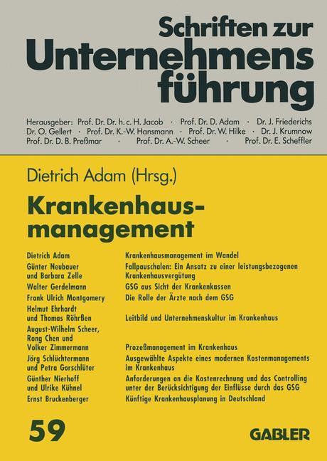 Abbildung von Adam | Krankenhausmanagement | 2012