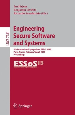 Abbildung von Jürjens / Livshits / Scandariato | Engineering Secure Software and Systems | 2013 | 5th International Symposium, E...