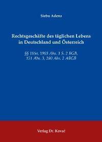 Rechtsgeschäfte des täglichen Lebens in Deutschland und Österreich   Adena, 2009   Buch (Cover)