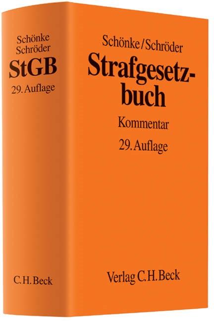 Strafgesetzbuch: StGB | Schönke / Schröder | 29., neu bearbeitete Auflage, 2014 | Buch (Cover)