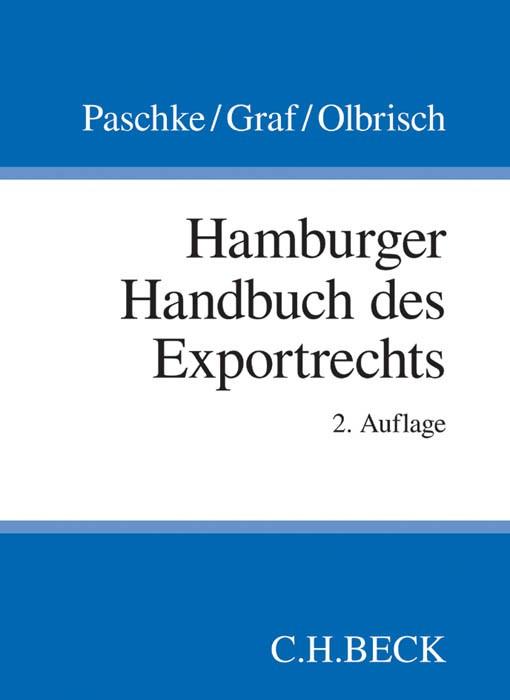 Hamburger Handbuch des Exportrechts | Paschke / Graf / Olbrisch | 2. Auflage, 2014 | Buch (Cover)